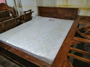 6'5 Teak box bed and 7″ spring mettress