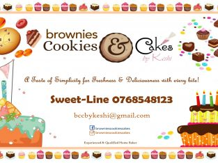 Brownies, Eclairs and Cakes