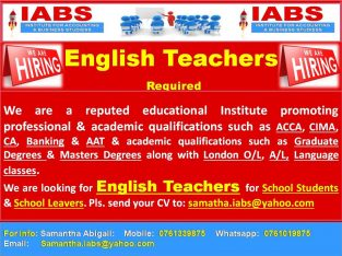 English Teachers Required – Job Vacancy