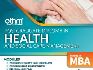 Post Graduate Diploma in Health and Social Care..