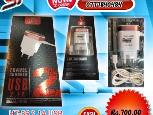 HT-56 2.1A USB Travel charger