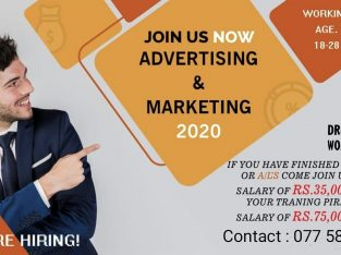 Advertising and marketing Job Vacancies – all island