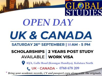 Open Day – UK & Canada Student Visa Options