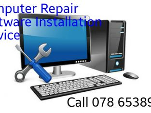 Computer repair and software installation services