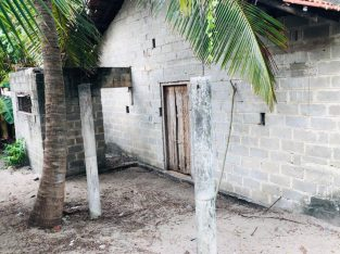 Half built house for sale in chilaw