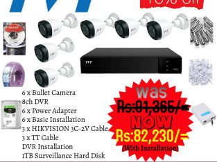 TVT 6CH/2MP/HD/1080P/HOME/OFFICE CCTV PACKAGE