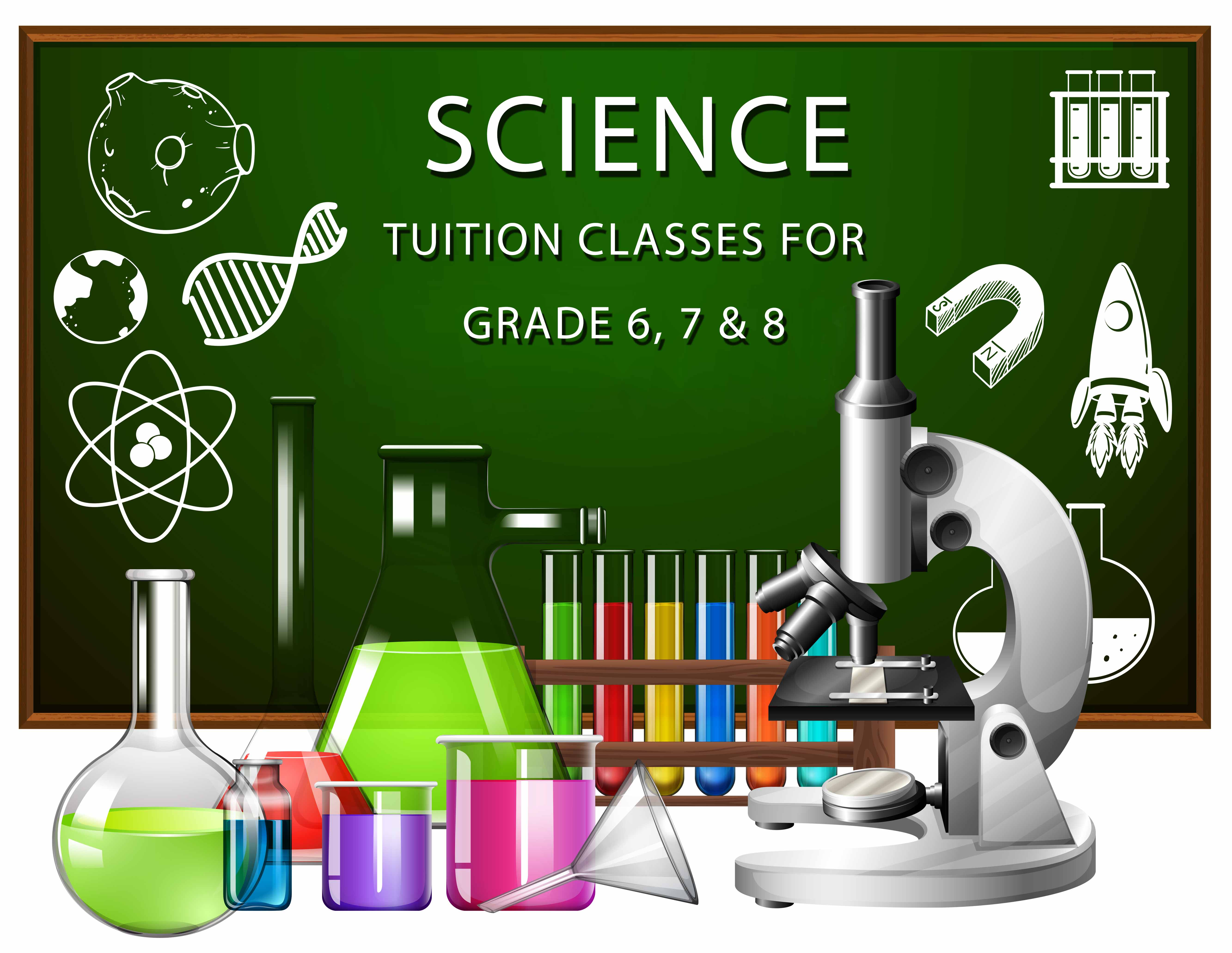 SCIENCE TUITION CLASSES FOR GRADE 6, 7 & 8 STUDENT
