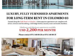 03 Bedrooms Apartment in Colombo 03