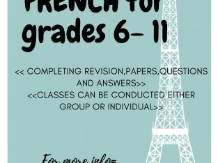 FRENCH CLASSES – GR 6 TO 11