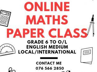 Online Maths Paper Class