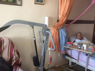 Elderly care for 80 year old paralyzed womn
