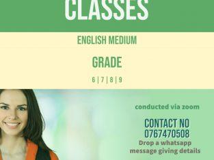 English medium science classes