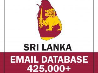 Sri Lanka Active Email database – 450,000+