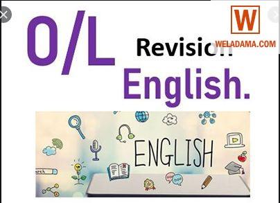 GCE O/LEVEL ENGLISH QUICK REVISION CLASSES