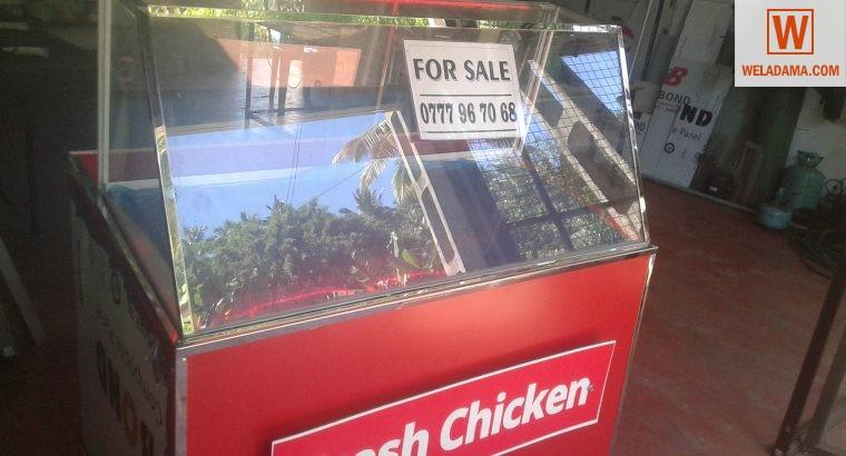 fresh chicken display