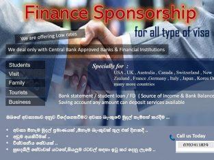 Finance sponsorship for all type of visa