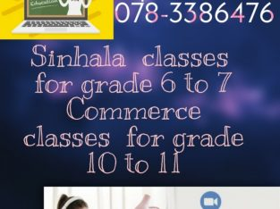 Online Classes for Sinhala and Commerce