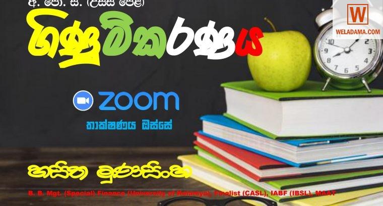Commerce Classes (Sinhala & English)