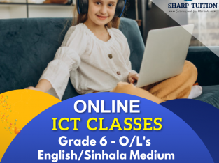 ICT ONLINE TUITION CLASSES FOR GRADE 6 to O/L.