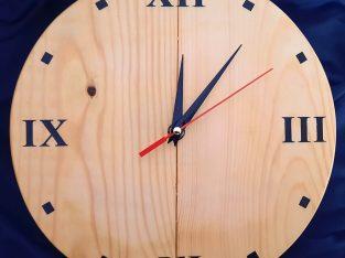 Modern stylish wooden wall clock