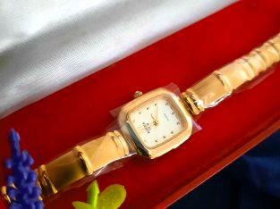 Japanese Rofina 24k Gold Plated Ladies wristwatch
