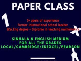 Math Online Paper Class